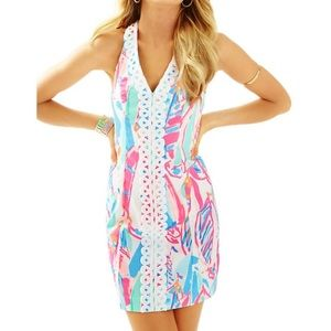 Lilly Pulitzer Lynn Shift Dress Multi Out To Sea 0